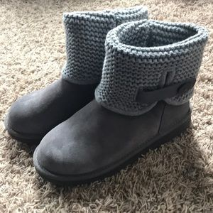 Ugg leather / crochet boots
